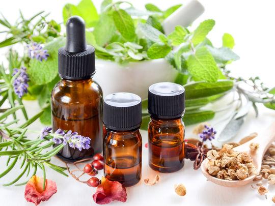 Différentes huiles essentielles